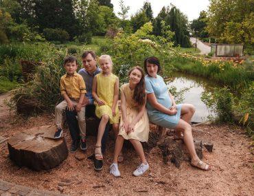 Rodinné focení v Pražské botanické zahradě Troja